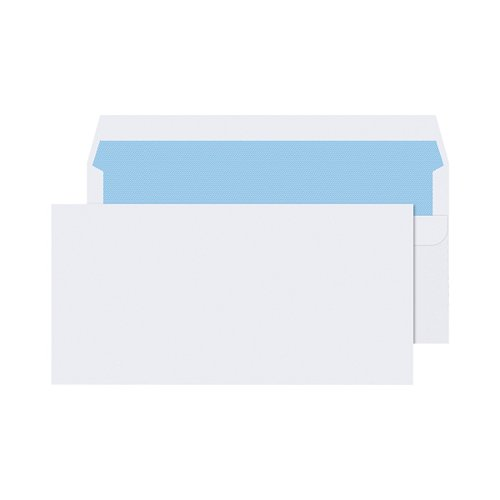 Q-Connect DL Envelopes Wallet Self Seal 90gsm White (Pack of 1000) 7134
