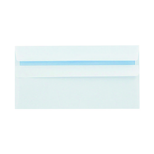Q-Connect DL Envelopes Wallet Self Seal 100gsm White (Pack of 1000) 7137