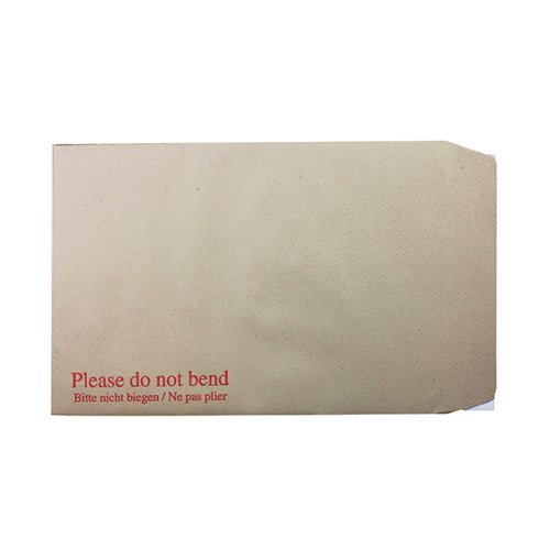 Q-Connect C4 Envelopes Board Back Peel and Seal 115gsm Manilla (Pack of 125) KF3521