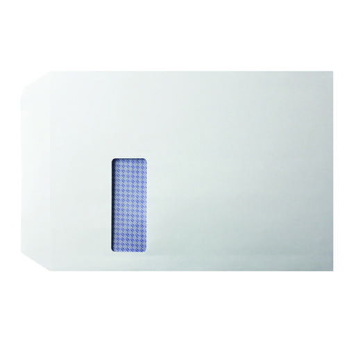 Q-Connect C4 Envelopes Window Self Seal 100gsm White (Pack of 250) KF3535