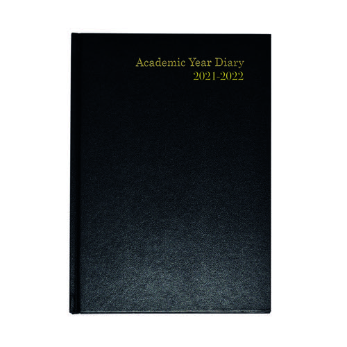 Academic Diary Week To View A5 Black 2021-22 KF3A5ABK21