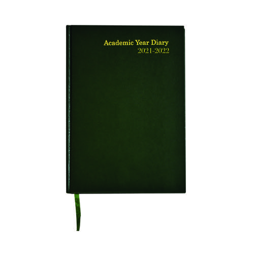 Academic Diary Week To View A5 Green 2021-22 KF3A5AGN21