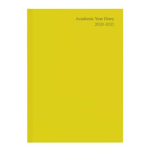 Academic Diary Week to View A5 Yellow 2020-21 KF3A5AYL21