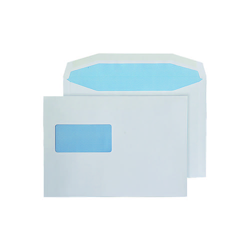 Q-Connect Machine Envelope 162x238mm Window Gummed 80gsm White (Pack of 500) KF71434