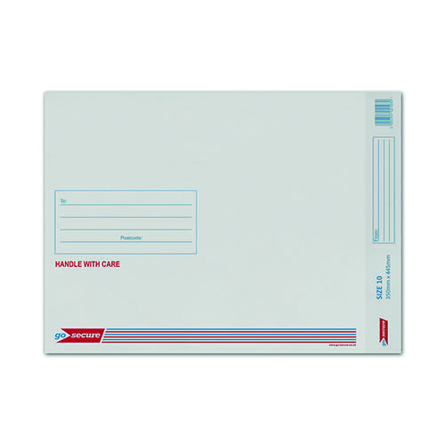 GoSecure Bubble Lined Envelope Size 10 350x445mm White (Pack of 50) KF71453