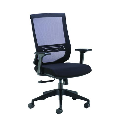 Arista Octave High Back Executive Mesh Chair Black KF71482