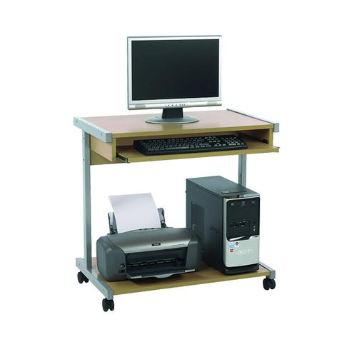 Serrion Mobile Workstation Extra Wide 800mm Ferrera Oak ECS800OK