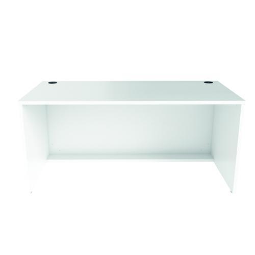 Jemini Reception Modular Desk Unit 1600mm White RCM1600SBUWH