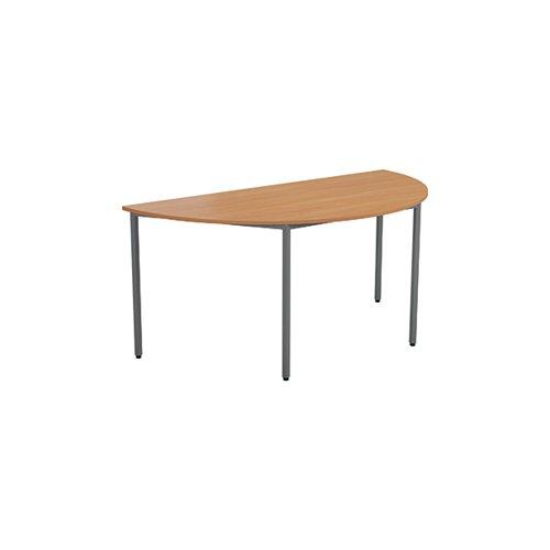 Jemini Semi Circular Table 1600 x 800mm V2 Beech OMPT1680SEMIBE2