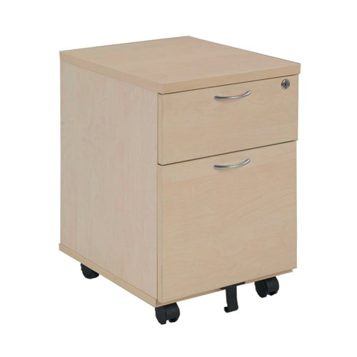 Jemini Maple 2 Drawer Mobile Pedestal KF72083