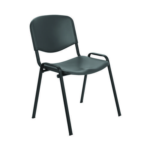 Jemini Multi Purpose Polypropylene Stacking Chair Charcoal KF72369