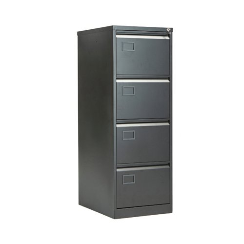 Jemini 4 Drawer Filing Cabinet Black KF72587