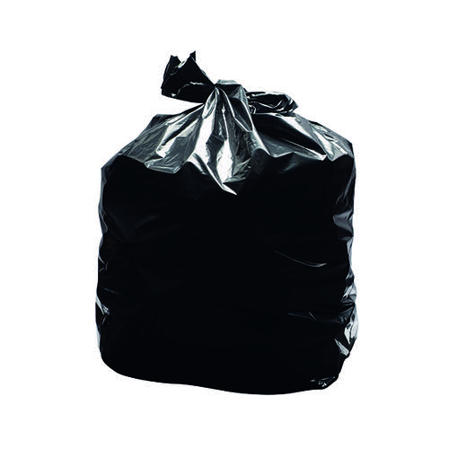 2Work Light Duty Refuse Sack Black (Pack of 200) KF73375