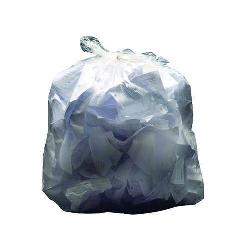 2Work Swing Bin Liner 45 Litre White (Pack of 1000) KF73379