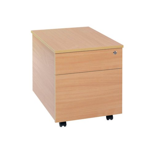 Serrion Bavarian Beech 2 Drawer Mobile Pedestal KF73516