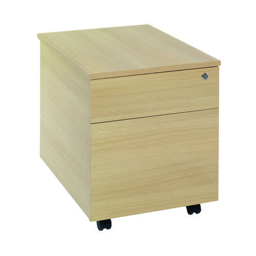 Serrion Ferrera Oak 2 Drawer Mobile Pedestal KF73517