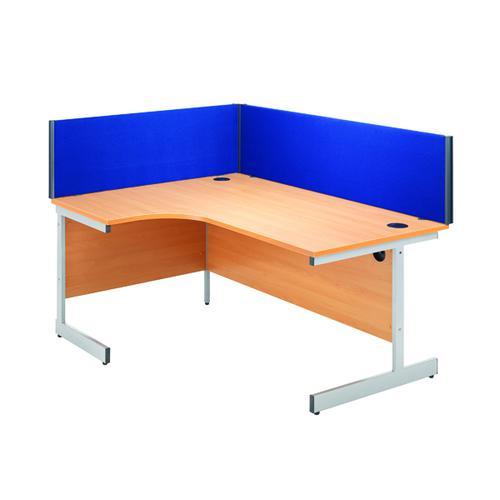 Jemini Blue 800mm Straight Desk Screen KF73911 by VOW, KF73911