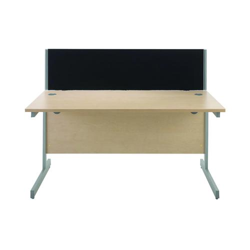 Jemini Black 1200mm Straight Desk Screen (Each screen comes with a pair of clamps) KF73912 by VOW, KF73912