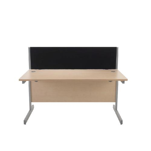 Jemini Black 1400mm Straight Desk Screen (Each screen comes with a pair of clamps) KF73914