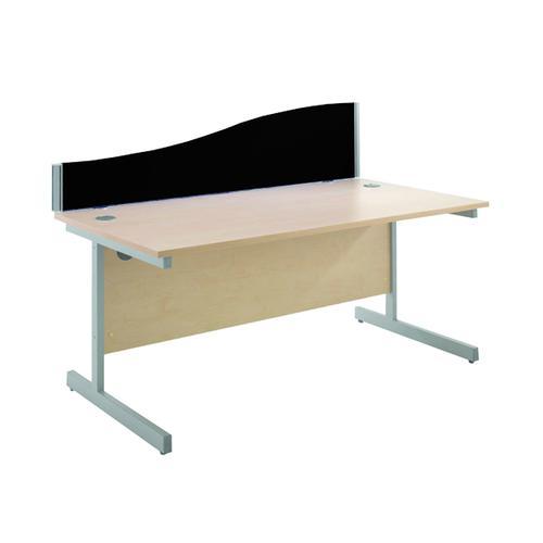 Jemini Black 1200mm Wave Desk Screen KF73922