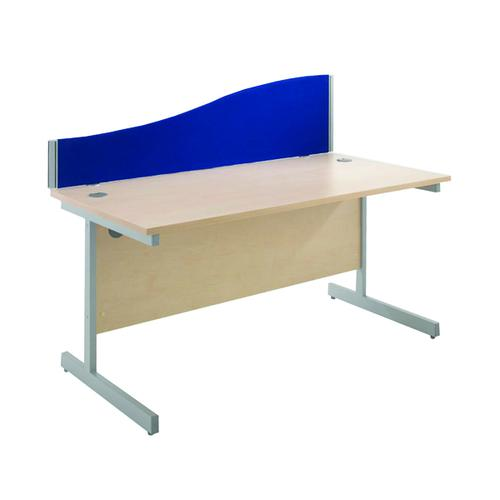 Jemini Blue 1600mm Wave Desk Screen KF73927 by VOW, KF73927