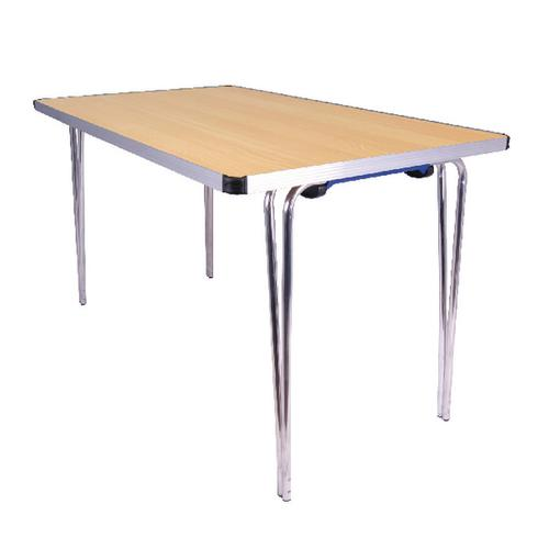 Jemini Japanese Beech W1220xD685xH698mm Rectangular Aluminium Folding Table KF74027