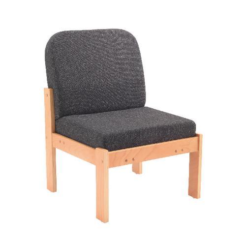 Arista Charcoal Reception Seat Beech Veneer Frame KF74201 by VOW, KF74201