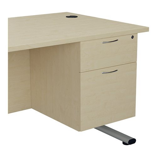 Jemini 655 Fixed Pedestal 2 Drawer Maple KF74414