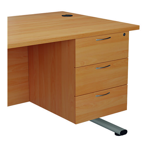 Jemini 655 Fixed Pedestal 3 Drawer Beech KF74417