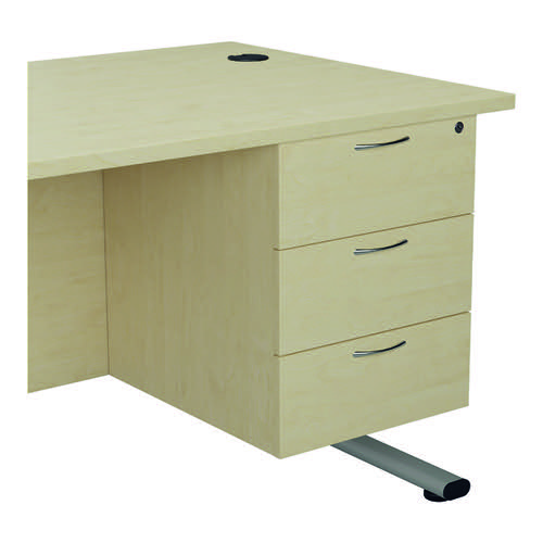 Jemini 655 Fixed Pedestal 3 Drawer Maple KF74420