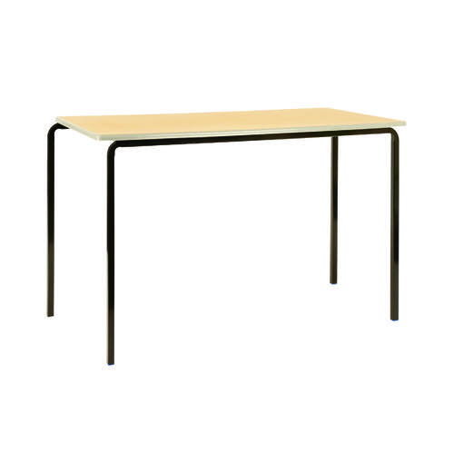 Jemini PU Edged Class Table W1100 x D550 x H710mm Beech/Black (Pack of 4) KF74564