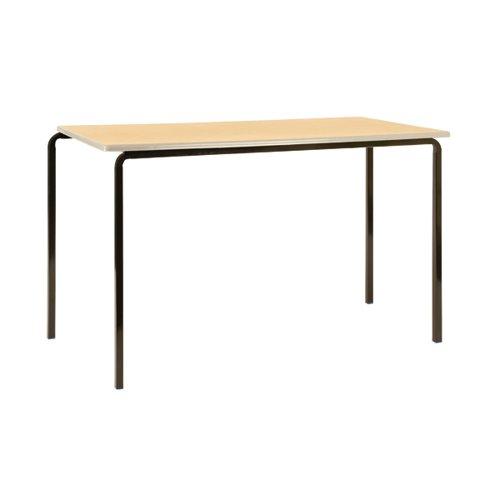 Jemini Polyurethane Edged Class Table 1200x600x710mm Beech/Black (Pack of 4) KF74565