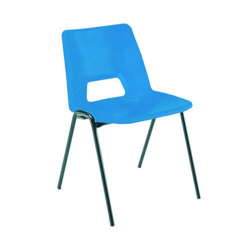 Jemini Polypropylene Stacking Blue Chair (Suitable for both indoor and outdoor use) KF74958