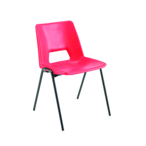 Jemini Polypropylene Stacking Chair Red KF74961