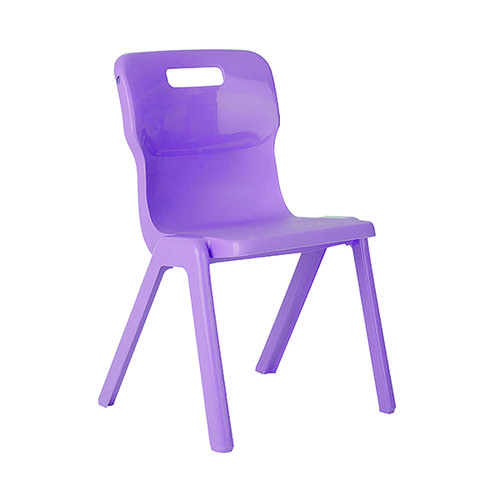 Titan One Piece Chair 380mm Purple (Pack of 30) KF78622