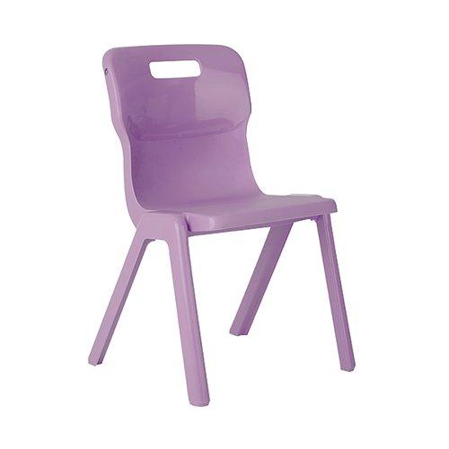 Titan One Piece Classroom Chair 432x407x690mm Purple (Pack of 30) KF78622