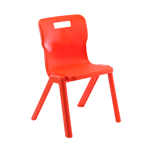 Titan One Piece Chair 430mm Orange (Pack of 30) KF78632