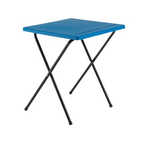 Titan Folding Exam Desk Polypropylene Blue KF78652