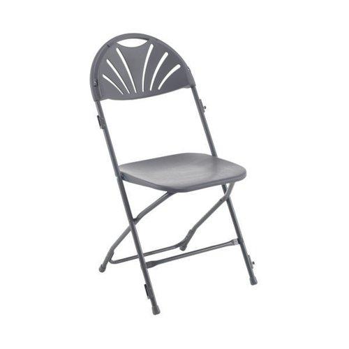 Titan Folding Chair 445x460x870mm Charcoal KF78657
