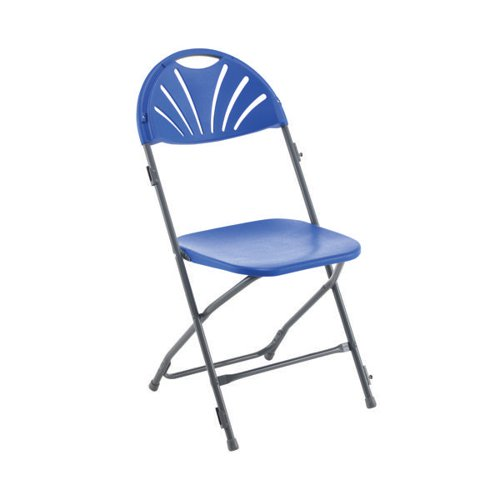 Titan Folding Chair Blue (Overall Dimensions W460 x D515 x H870mm) KF78658