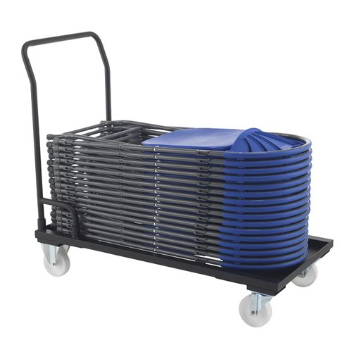 Titan Folding Chair Trolley 1120x540x1000mm Black KF78659