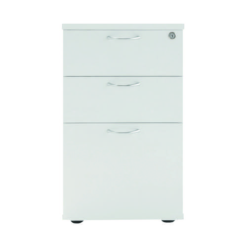 Jemini White 3 Drawer Under-Desk Pedestal W404 x D500 x H690mm KF78664