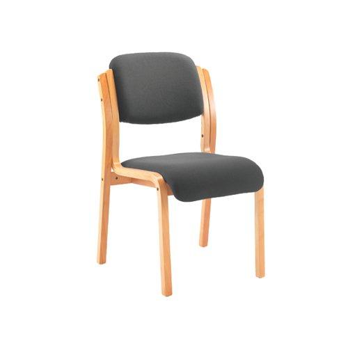 Jemini Wood Frame Side Chair 640x640x845mm Charcoal KF78680