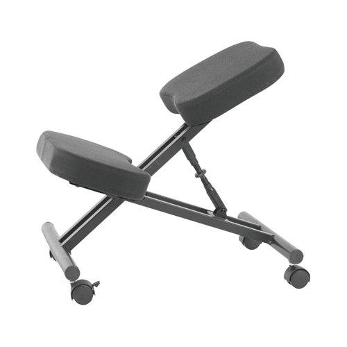 Jemini Kneeling Chair Black (Seat Dimensions: W420 x D260mm) KF78705