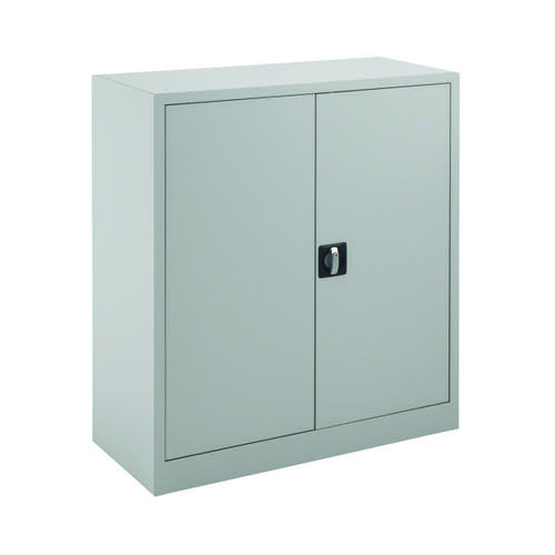 Talos Double Door Stationery Cupboard 1000 Grey KF78752