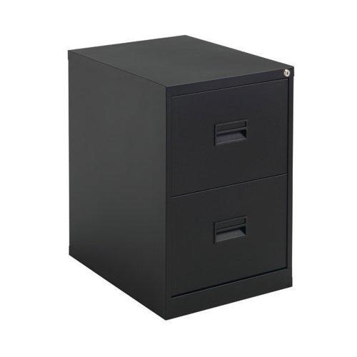 Talos 2 Drawer Filing Cabinet 465x620x700mm Black KF78762