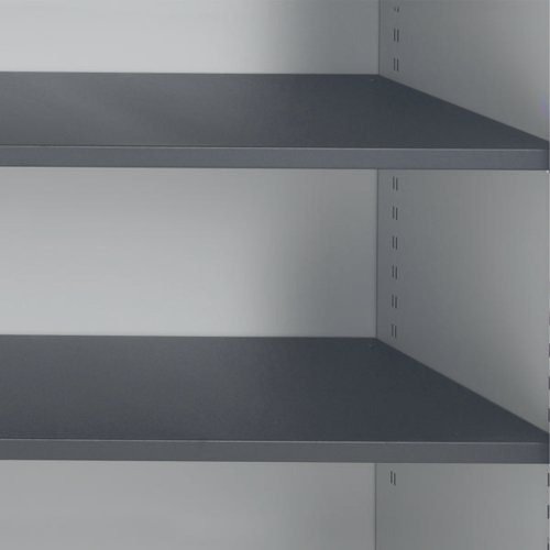 Talos Tambour Black Shelf - designed for use with Talos side opening tambour cupboards TCS-TAM-SHELF
