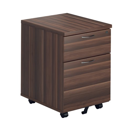 Jemini Walnut 2 Drawer Mobile Pedestal KF78942