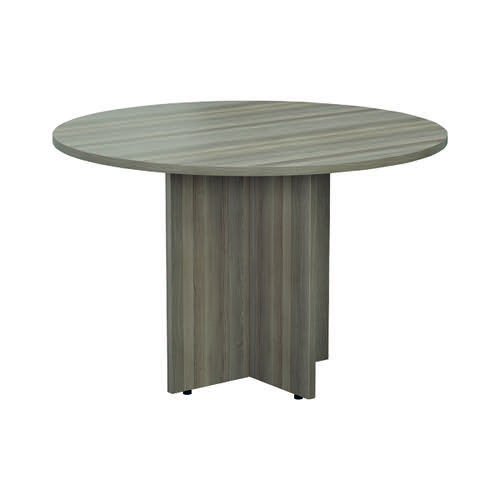 Jemini Grey Oak Round D1200 Meeting Table (Diameter: 1200mm height: 730mm) KF78959