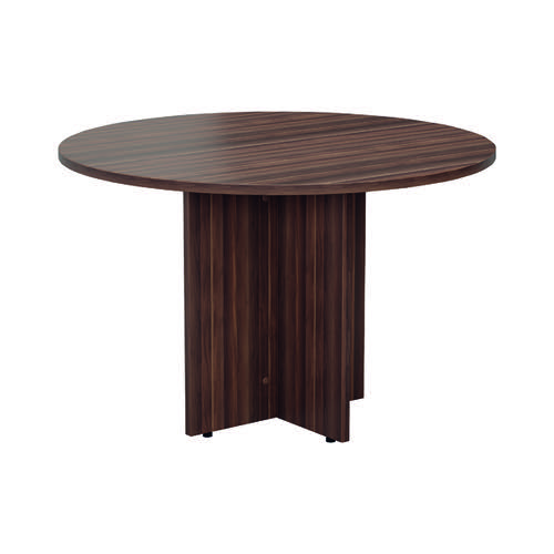 Jemini Walnut Round D1200 Meeting Table (1200mm diameter, 730mm height) KF78960